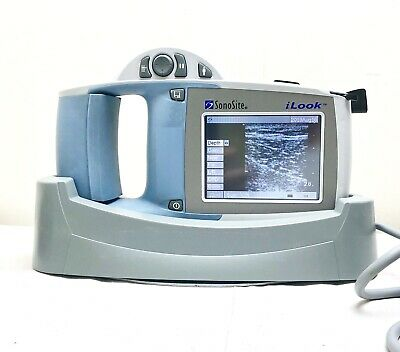 SONOSITE iLOOK PORTABLE ULTRASOUND + L25 TRANSDUCER, GEL, MANUAL