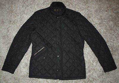 BARBOUR CHELSEA SPORTSQUILT Jacket in Black - Small  [2911]