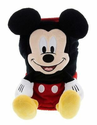 Disney Parks Mickey Mouse Cuddle Characters Plush Doll Throw Blanket NWT