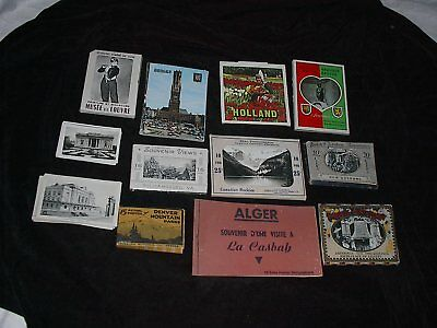 Vintage Lot of 10 Sets Souvenir Real Photo Pictures in Packets US & Europe