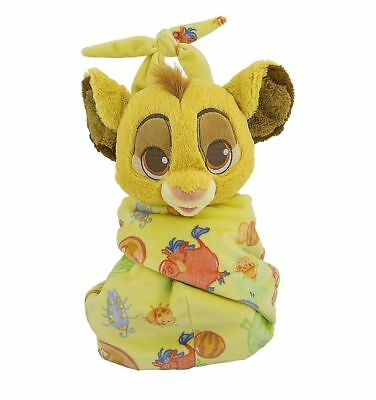 Disney Parks Baby Simba in a Blanket Pouch Lion King Plush NWT Ships FREE