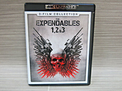 The Expendables: 3-Film Collection (4K ULTRA HD Blu-ray, 2017, 3-Disc Set)