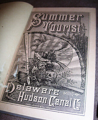 1880 Delaware Hudson Canal Railroad Co SUMMER TOURIST New York vacation resorts