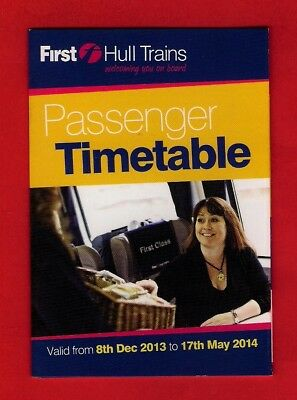 Pocket Timetable - First Hull Trains - Hull & Doncaster to London KX - Dec 2013
