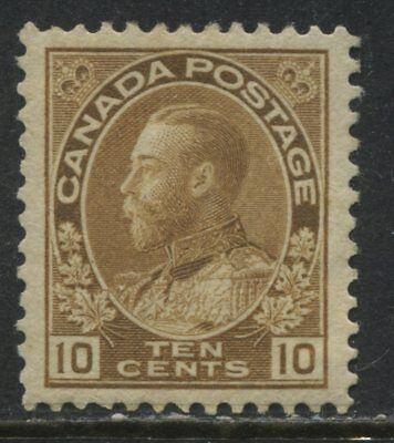 Canada KGV Admiral 10 cents bister brown unmounted mint NH