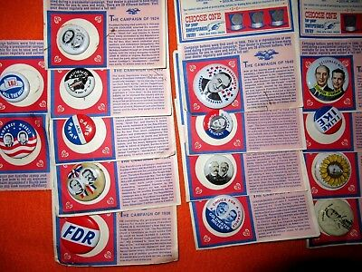 Lot of 15 different Reproduction political Campaign Buttons / Pin - 1972