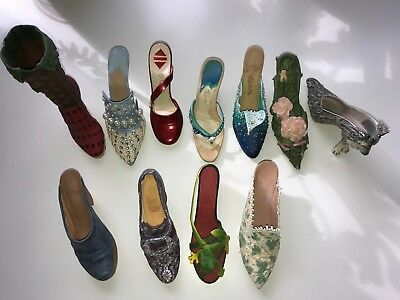 Just the Right Shoe, miniature shoe lot of 11!