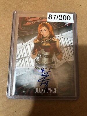 2017 Topps Road To Wrestlemania Becky Lynch AUTO 087/200 THE MAN