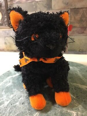 """Nwmt 8"""" Ty Beanie Babies Fraidy The Black Cat Mint Tags 2000"""