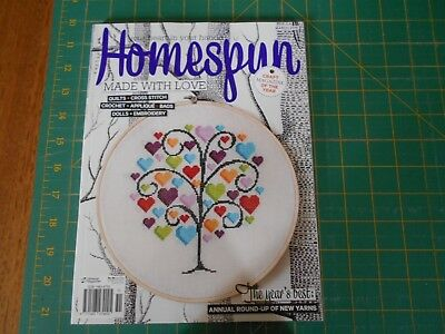 Australian Homespun Magazine - No. 154 - Vol 17 No 3 (2016) - Good Condition -