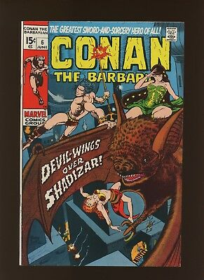 Conan the Barbarian 6 VF 8.0 * 1 Book Lot * Roy Thomas & Barry Windsor-Smith!