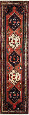 """Hand-knotted Persian Carpet 2'4"""" x 9'5"""" Persian Vintage Traditional Wool Rug"""