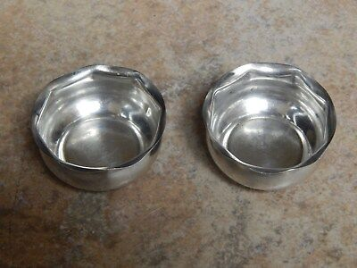 ANTIQUE  BARBOUR  SILVER Co  STERLING SILVER PAIR OF SALT CELLARS