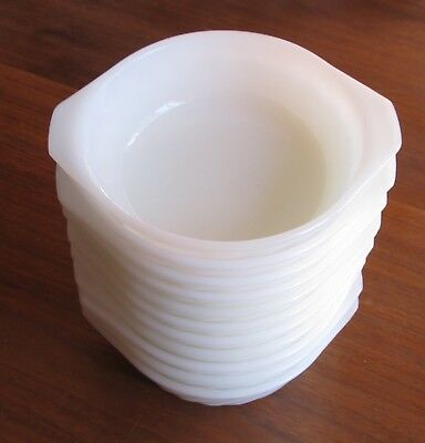 Fire King White Swirl Individual Small Casseroles Tabbed Bowls Set of 11
