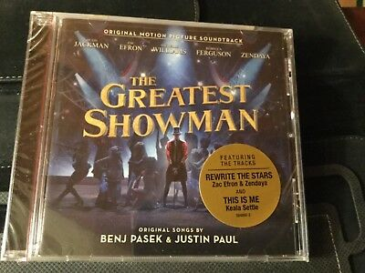 THE GREATEST SHOWMAN - SOUNDTRACK  (CD 2018). Sealed Free Shipping