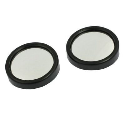 Car Blind Spot Mirror Round Stick-On Rearview Wide Angle Convex Black Blindspot
