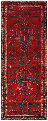 """Hand-knotted Persian Carpet 3'5"""" x 9'4"""" Persian Vintage Traditional Wool Rug"""