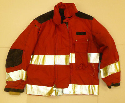 Janesville 48x29 Red Firefighter Jacket Bunker Turn Out Gear J552