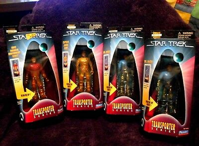1998 Star Trek Transporter Series, Lot of 4, NOS, EXTREMELY Low Collector's #s