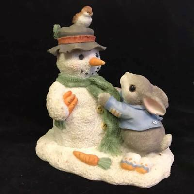 """Enesco My Blushing Bunnies """"Friendship Puts a Smile on your Face"""" Bunny Rabbit"""