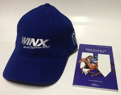 Winx New 'the Original' Embroidered Fan Cap + Racebook Cox Plate Day (Sydney) !!