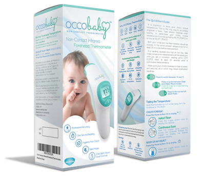 OCCObaby Digital Clinical Forehead Thermometer Limited Edition W/ bonus NEW!