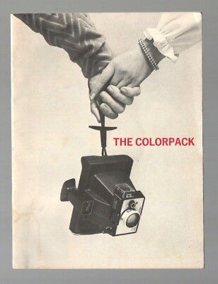 Vintage Polaroid Land Camera The Colorpack 19 Page Users Guide Manual 1973