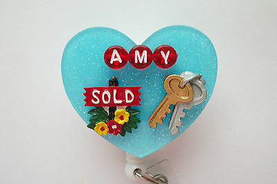 Personalized Realtor Real Estate Office Id Badge Holder