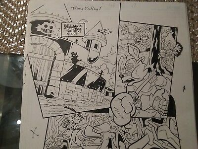 Sonic Universe Issue 46 pg. 17 Original Comic Art Sonic the Hedgehog