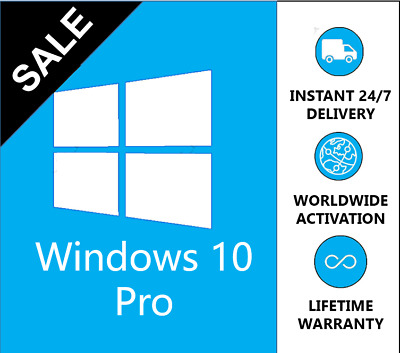 Windows 10 Professional Win 10 Pro Key Product Code Microsoft 32/64 Bits Instant