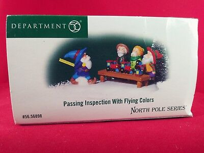 PASSING INSPECTION with FLYING COLORS NORTH POLE accessory NIB dept 56 NRFB New!