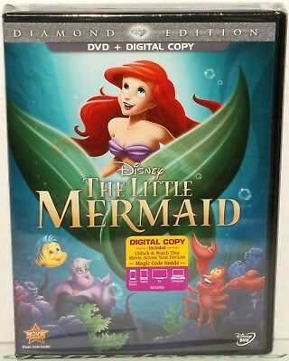 The LITTLE MERMAID - Authentic Disney USA Diamond Edition Dvd + Digital Copy New