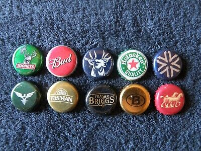 10 assorted bottle caps from different brewers - primarily Australian - lot  3