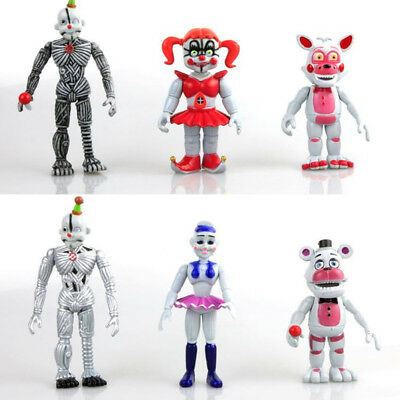 Five Nights At Freddy's Bonnie Freddy 6 PCS FNAF Game Action Figure Kid Gift Toy