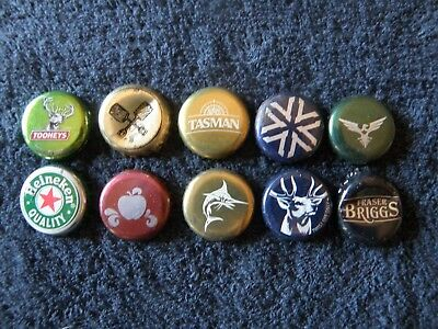 10 assorted bottle caps from different brewers - primarily Australian - lot 7