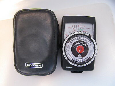 Gossen Luna-Pro F Ambient or Flash Expoure Meter with Case, Near-Mint Works 100%
