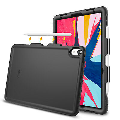 For iPad Pro 11 inch 2018 Case Silicone Cover Shock Proof Secure Pencil Holder