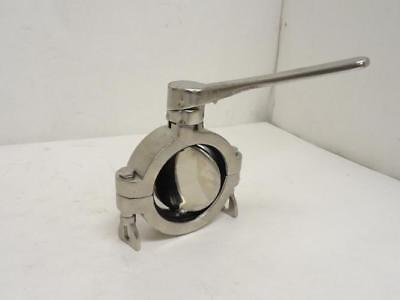 """180786 New-No Box, MFG- B5102S300-A Clamp Butterfly Valve, SS-316, Size: 3"""""""
