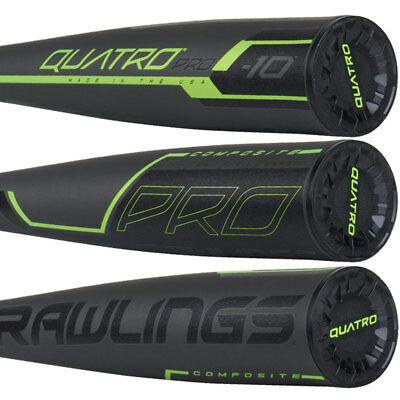 NIW 2019 Rawlings Quatro Pro 31/21 (-10) 2 5/8 USA Composite Baseball Bat US9Q10