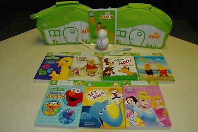 Pink Leap Frog TAG JR Reading System Lot Reader Pen 7 Books, 2 Cases & USB