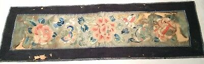 RARE Fine Old Chinese Hand Embroidered Silk Panel
