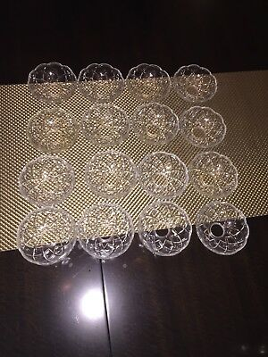 Vintage Crystal Bobeches Chandelier Prism Bowls Lot of 16