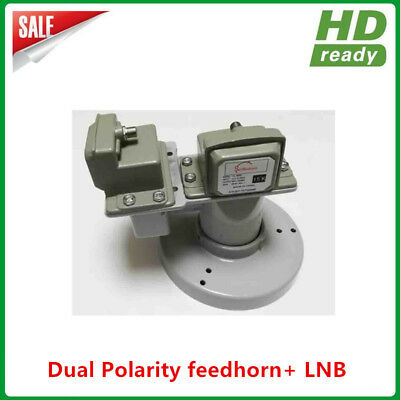 C band dual polarity feedhorn with 2pcs C band single polarity LNB