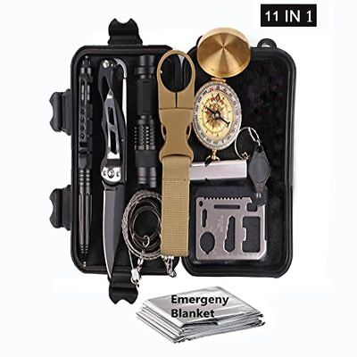 11in1 emergency set kit survival outdoor camping travel multi function first aid