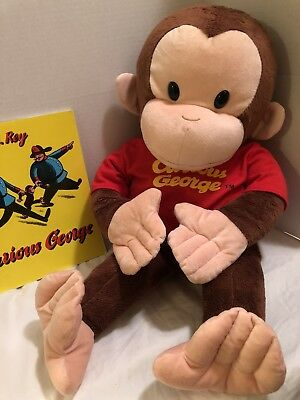 """CURIOUS GEORGE JUMBO PLUSH  24""""  VINTAGE Monkey The Book H.A. Rey Curious George"""