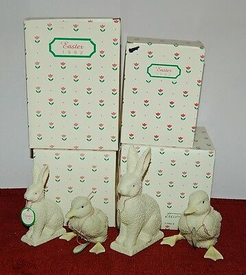 Dept.56 Snowbabies Set Of  4 Figurines Very Nice Easter Gift!  Mint In Boxes!