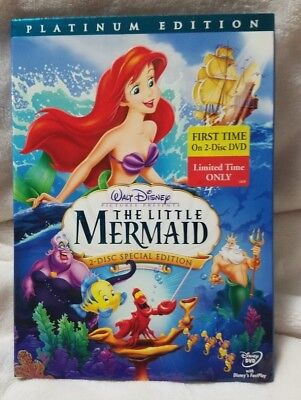 The Little Mermaid (DVD, 2006, 2-Disc Set, Platinum Ed) FREE SHIPPING Media Mail