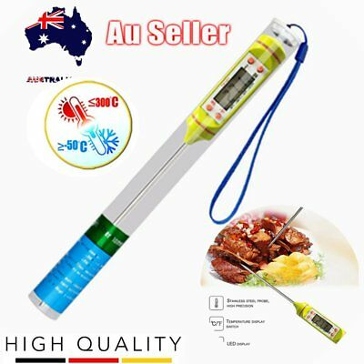 Digital Cooking Probe Thermometer Meat Food Stab Temperature -50 to 300C AU DS