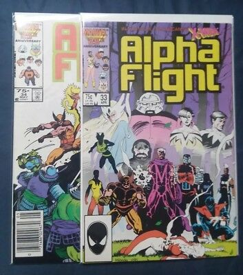 Alpha Flight #33 & 34 [1983, Marvel] 1st Lady Deathstrike - Near Mint