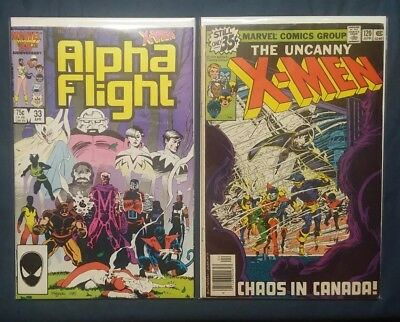 Alpha Flight Bundle #1, 33, 34, 51 & Uncanny X-Men 120 [1983, Marvel]